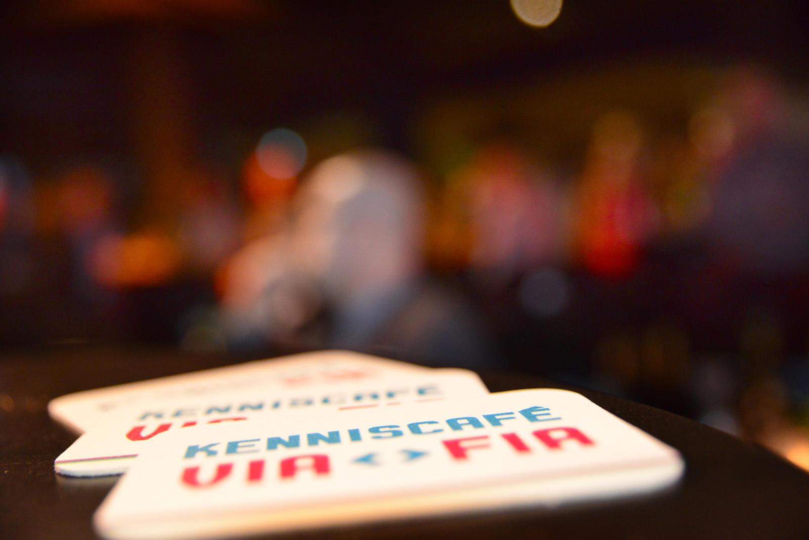 bierviltjes in kenniscafe VIA FIA